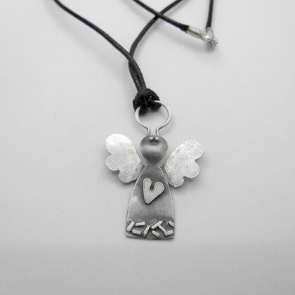"Silver necklace ""Angel"""
